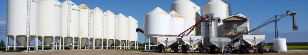 photo of Dow Fertilizer blender and bins